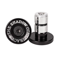 Shadow Deadbolt Alloy Bar Ends, Black
