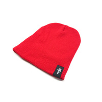 Tempered Woven Beanie, Red