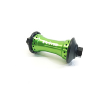Primo N4 V1 Front Hub 10mm Green. Includes Guards