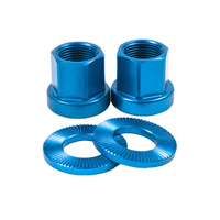 Shadow 10mm Alloy Axle Nuts (Pair), Highlighter Blue *Sale Item*