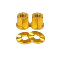 Shadow 10mm Alloy Axle Nuts (Pr) Gold *Sale Item*