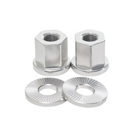 Shadow 10mm Alloy Axle Nuts (Pair), Raw Polish *Sale Item*