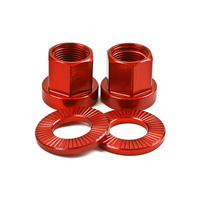 Shadow 10mm Alloy Axle Nuts (Pair), Crimson Red *Sale Item*