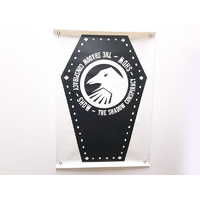 Shadow Coffin Banner 24' X 48', Black