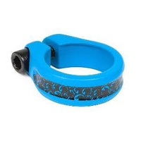 Shadow Alfred Seat Clamp, Matte Highlighter Blue *Sale Item*