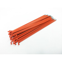 Sputnic Spokes 194mm - Includes Nipples, Orange *Sale Item*