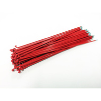 Sputnic Spokes 194mm - Includes Nipples, Red *Sale Item*