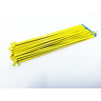 Sputnic Spokes 194mm - Includes Nipples, Yellow *Sale Item*