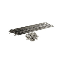 Tree Twigs 'N' Berries Straight Gauge 202mm Spokes and Nipples, Chrome