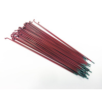 Shadow Spokes 194mm - Includes Nipples, Red *Sale Item*