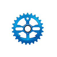 Tempered Anchor Down V1 Sprocket, 28T Blue