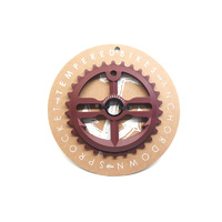 Tempered Anchor Down V1 Sprocket, 30T Burnt Red