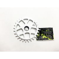 Tree Light Bolt Drive Sprocket, 30T White *Sale Item*