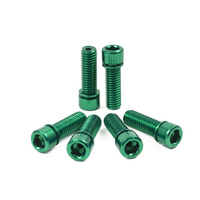 Shadow Hollow Bolts Kit. Set Of 6, Green