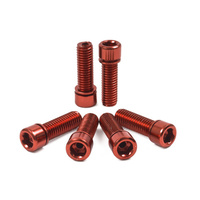 Shadow Hollow Bolts Kit. Set Of 6, Red