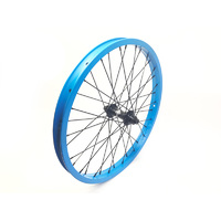 Shadow SPW Complete Front Wheel, Matte Highlighter Blue