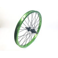 Shadow SPW Complete Rear Wheel, Electric Lime Rim
