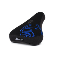Shadow Crow Mid Pivotal Seat, Black W/Perma Blue Embroidery