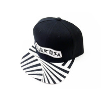 Subrosa Party Snapback Hat, Black/White *Sale Item*