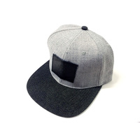 Subrosa Venom Denim Snapback Hat, Grey *Sale Item*