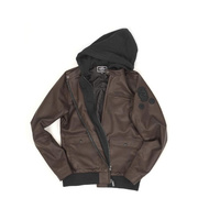 Shadow Backstabber Faux Leather Jacket Brown Small *Sale Item*