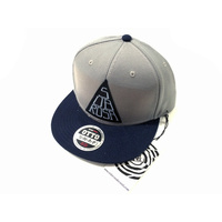 Subrosa Stacked Snapback Hat, Grey/Navy *Sale Item*