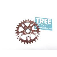 Tree Original Spline Drive Sprocket, 28T Woodgrain
