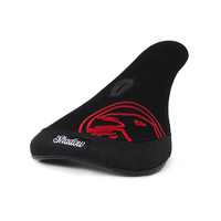 Shadow Crow  Slimmer Pivotal Seat, Black W/Red Embroidery