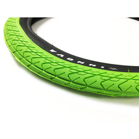 "Innova Tyre, 2.25"" Green W/Black Sidewall"
