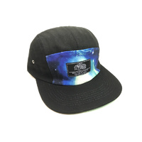 Tempered Til Death Camp Hat, Black/Blue. *Sale Item*