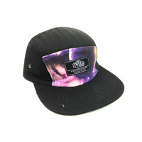 Tempered Til Death Camp Hat, Black/Purple.