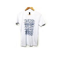 Tempered Font Tee, White/Grey Large *Sale Item*