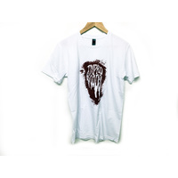 Tempered Splatter Tee White/Red. Large