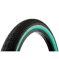 "Fit Bike Co. Faf Tyre 20"" X 2.25"", Black W/Tealwall *Sale Item*"