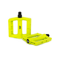 Rant Hella Plastic Pedals, Neon Yellow