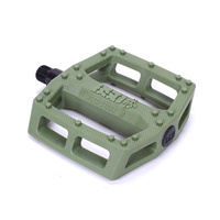 BSD Safari Plastic Pedals, Surplus Green