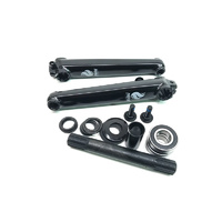 Forgotten 8 Spline Cranks 175mm/19mm, Black