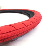 "Stranger Ballast Tyre, 2.45"" Red W/Black Wall"