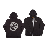 BSD Acid Face Zip-Up Hoodie, Black Medium