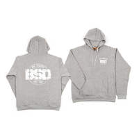 BSD Established Hoodie, Heather Grey Medium