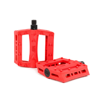 Rant Shred Plastic Pedals, Red
