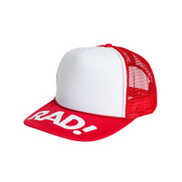 Subrosa Radical Rick Trucker Hat, Red/White
