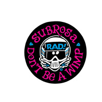 "Subrosa Radical Rick Sticker, 2.75"" Black"