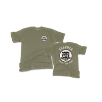 Subrosa Battle Cat Tee, Army Green Medium