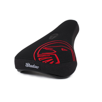 Shadow Crow Mid Pivotal Seat, Black W/Red Embroidery