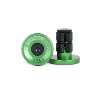 Shadow Deadbolt Alloy Bar Ends, Phantom Green