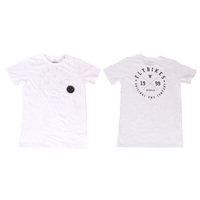 Fly College Pocket Tee, White Large*Sale Item*