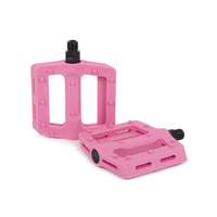 Shadow Surface Plastic Pedals, Double Bubble Pink