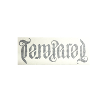 Tempered Zephyr 15cm Vinyl Sticker, Black