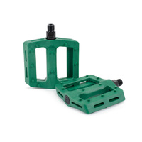 Shadow Surface Plastic Pedals, BR Green